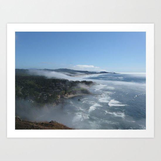 Fog Rolling In Art Print