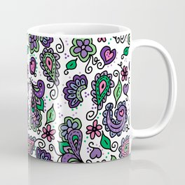 Ispire Paisley in Purples Coffee Mug