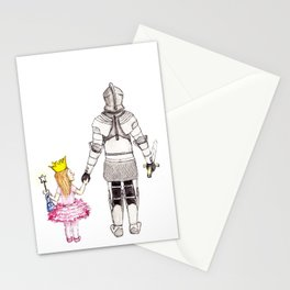 The Princess and her Knight Stationery Cards