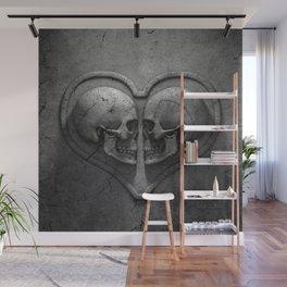 Gothic Skull Heart Wall Mural
