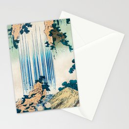 Yoro Waterfall in Mino Province - Traditional Japanese Illustration Stationery Cards