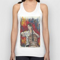 cello Tank Tops featuring Cello 1 by Ed Rucker