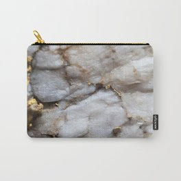 White Quartz with Gold Veining Carry-All Pouch