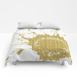 Golden Flower Comforters