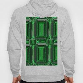 FACETED GREEN EMERALD MAY GEMSTONE ART Hoody