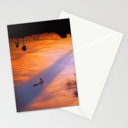 Opposite worlds Stationery Cards