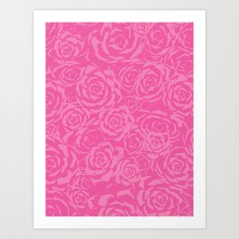 Succulent Stamp Pinks #212 Art Print