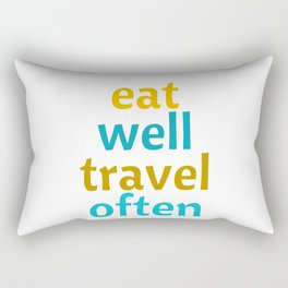 EAT WELL - TRAVEL OFTEN Rectangular Pillow