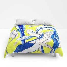 Plant in Blue Marker - Leaf of Life Miracle Leaf - Yellow Comforters