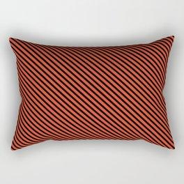 Tangerine Tango and Black Stripe Rectangular Pillow
