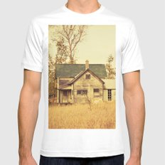 Lonely World Mens Fitted Tee MEDIUM White