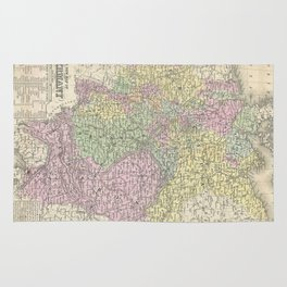 Vintage Map of Germany (1853)  Rug