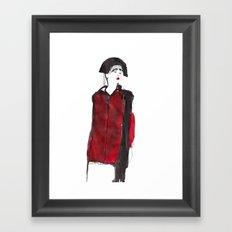 fashion illustration – Belle Sauvage A/W 2013 Framed Art Print