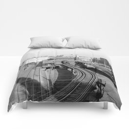 Dudley Station on the Boston Elevated Railway 1904 Comforters