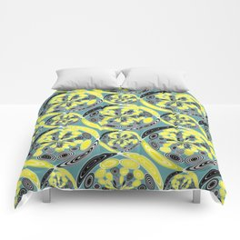 Black and yellow pattern Comforters