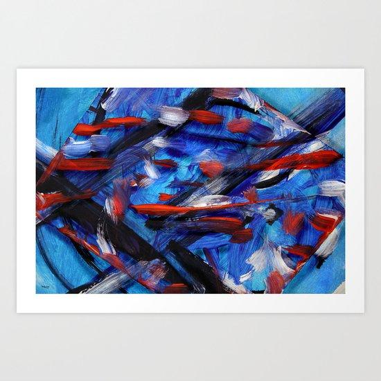 Acryl-Abstrakt 30 Art Print