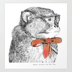 red bow Art Print