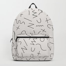 Scribbles Black on Warm Gray Backpack