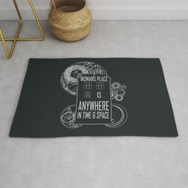 A Woman's Place is Anywhere in Time and Space Rug