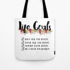 Bookworm Goals Tote Bag