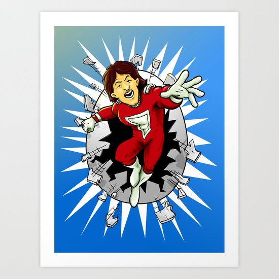 Mork from Ork Art Print