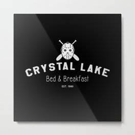 Crystal Lake Bed & Breakfast, Former Camp Crystal, Est.1980, Design for Wall Art, Posters, Tshirts, Men, Women Metal Print