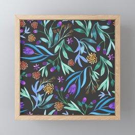 Watercolor floral bouquet pattern Framed Mini Art Print