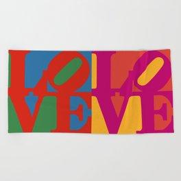 Love Pop Art Beach Towel