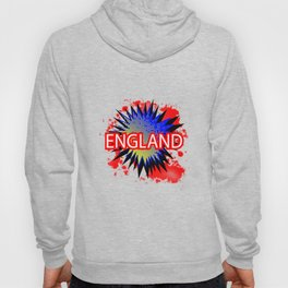 England Red White And Blue Cartoon Exclamation Hoody