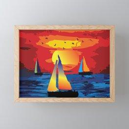 Sailing  for Peace Framed Mini Art Print