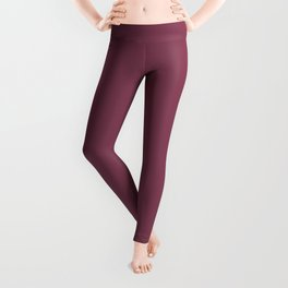 Muted Pink Solid Color Pairs To Sherwin Williams 2020 Trending Color Palette Juneberry SW6573 Leggings