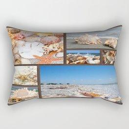 Seashell Treasures From The Sea Rectangular Pillow