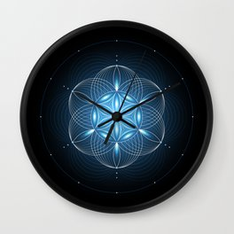 Pulse | Sacred geometry Wall Clock