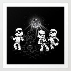 Dark Side Disco Dancing Art Print