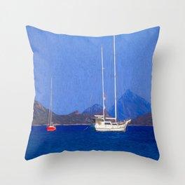Sailing Ship Art Throw Pillow