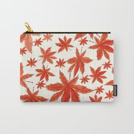 red maple leaves pattern Carry-All Pouch