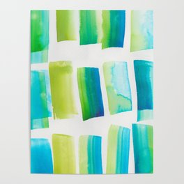 13.1 | 190304 Watercolour Painting Abstract Pattern Poster
