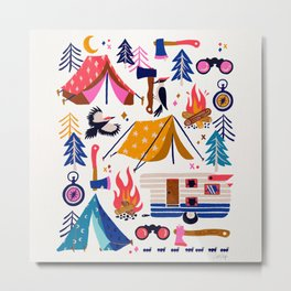 Camping Kit – Rainbow Palette Metal Print