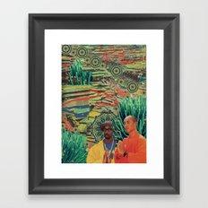 Green Lands Framed Art Print