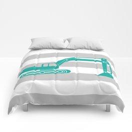 Aqua Excavator Comforters