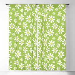 DAISIES ON APPLE GREEN Blackout Curtain