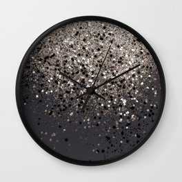 Sepia Glitter #1 #shiny #decor #art #society6 Wall Clock