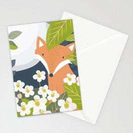 Peeping Fox Stationery Cards