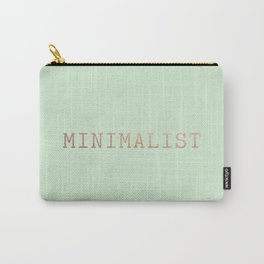 Mint Green and Copper Minimalist Typewriter Font Carry-All Pouch