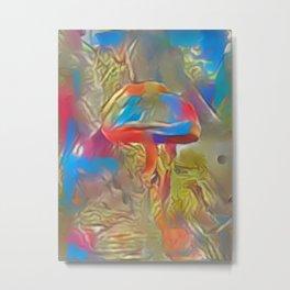 Paler Colorful Shroom World Metal Print