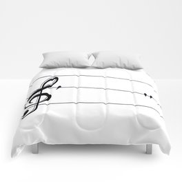 Natures Choir Birds on Wire Music Note A611W Comforters