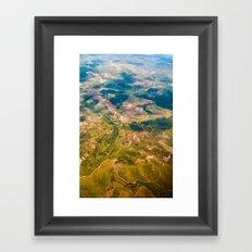 Land from the sky Framed Art Print