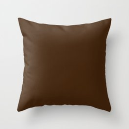 Colors of Autumn Dark Hazelnut Brown Solid Color Throw Pillow