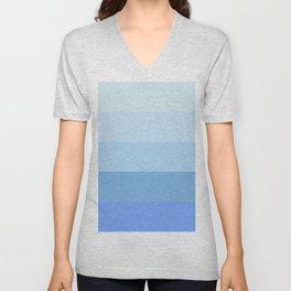 Blue Glass Pastel Stripe Unisex V-Neck