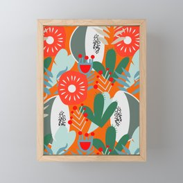 Cacti, fruits and flowers Framed Mini Art Print